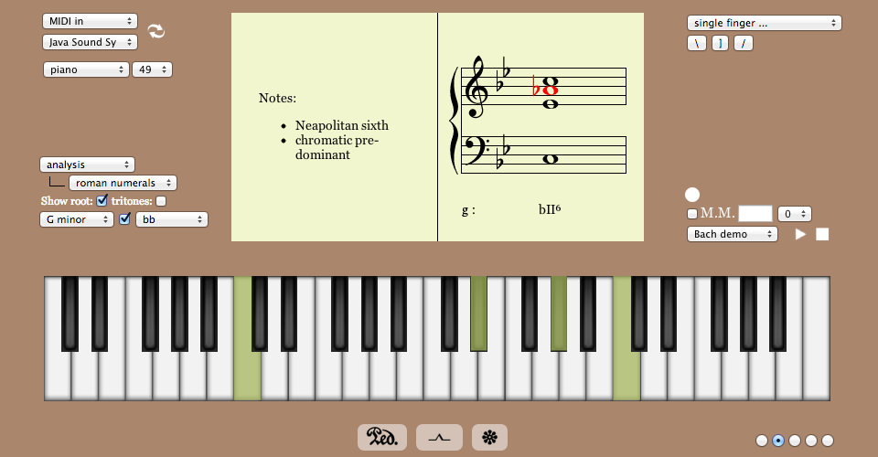 GoFigure: a virtual piano with annotated musical staff