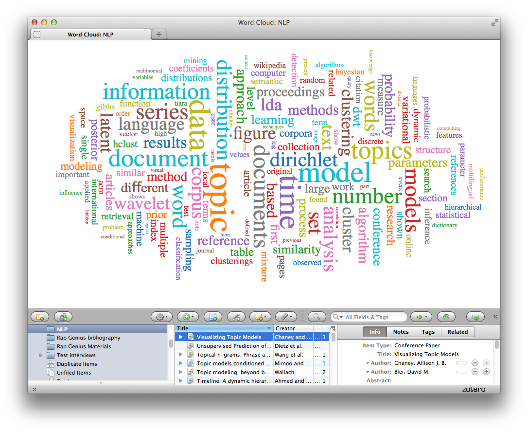 Paper Machines: natural language processing for Zotero